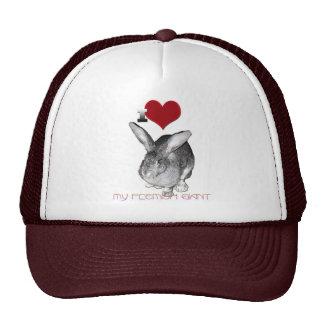 I Love My Flemish Giant Bunny Mesh Hat