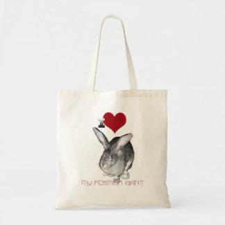 I Love My Flemish Giant Bunny Tote Bag