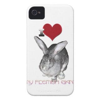 I Love My Flemish Giant iPhone 4 Cover