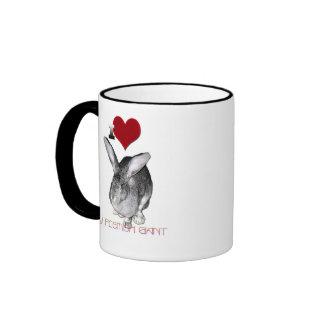 I Love My Flemish Giant Ringer Coffee Mug