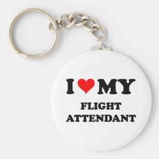 I Love My Flight Attendant Keychain