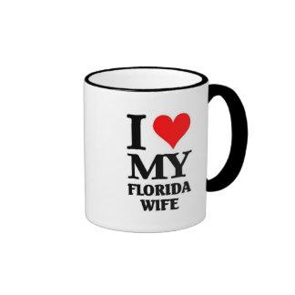 I love my Florida wife Ringer Mug