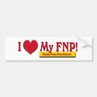 I LOVE MY FNP VALENTINE FAMILY NURSE PRACTITIONER BUMPER STICKER