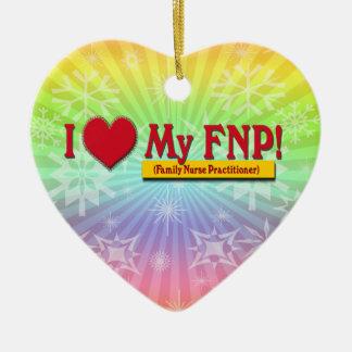 I LOVE MY FNP VALENTINE FAMILY NURSE PRACTITIONER CERAMIC ORNAMENT