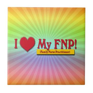 I LOVE MY FNP VALENTINE FAMILY NURSE PRACTITIONER CERAMIC TILE