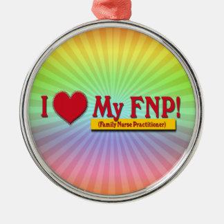 I LOVE MY FNP VALENTINE FAMILY NURSE PRACTITIONER ORNAMENTS