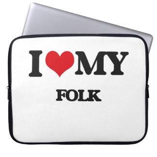 I Love My FOLK Computer Sleeve