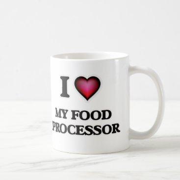 Beach Themed I Love My Food Processor Coffee Mug