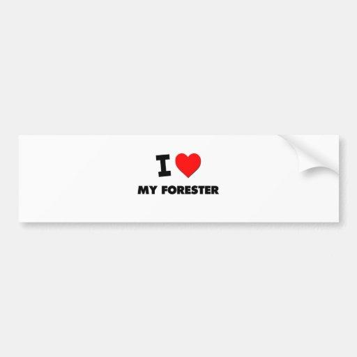 I love My Forester Car Bumper Sticker