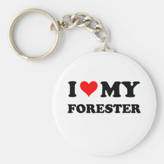 I Love My Forester Keychain