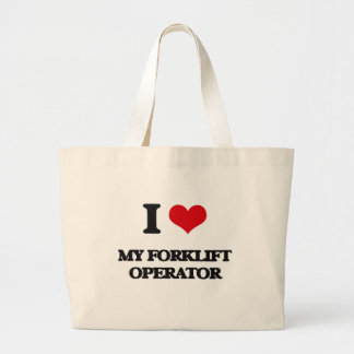 I Love My Forklift Operator Canvas Bag