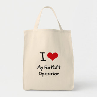 I Love My Forklift Operator Canvas Bags