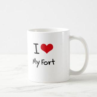 I Love My Fort Coffee Mugs