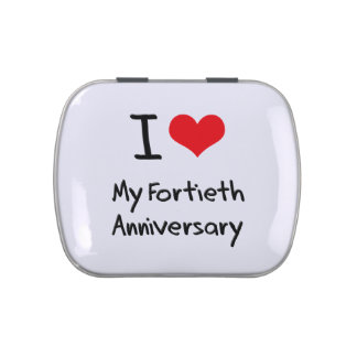 I Love My Fortieth Anniversary Jelly Belly Tins