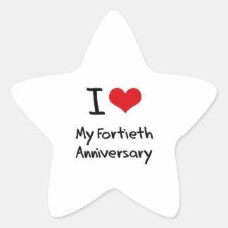 I Love My Fortieth Anniversary Stickers