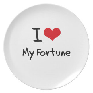I Love My Fortune Party Plate