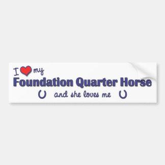 I Love My Foundation Quarter Horse (Female Horse) Car Bumper Sticker