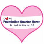 I Love My Foundation Quarter Horse (Female Horse) Photo Sculptures