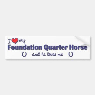 I Love My Foundation Quarter Horse (Male Horse) Car Bumper Sticker