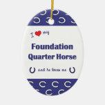 I Love My Foundation Quarter Horse (Male Horse) Christmas Ornaments