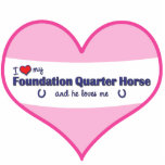 I Love My Foundation Quarter Horse (Male Horse) Cut Out