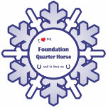 I Love My Foundation Quarter Horse (Male Horse) Photo Cutout