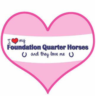 I Love My Foundation Quarter Horses (Multi Horses) Statuette
