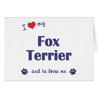 I Love My Fox Terrier (Male Dog) Card