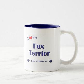 I Love My Fox Terrier (Male Dog) Coffee Mugs