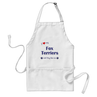 I Love My Fox Terriers (Multiple Dogs) Apron