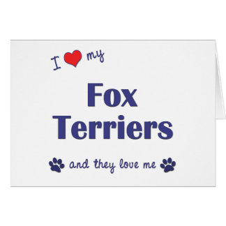 I Love My Fox Terriers (Multiple Dogs) Greeting Cards
