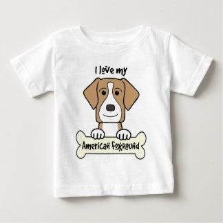 I Love My Foxhound Baby T-Shirt