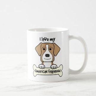 I Love My Foxhound Mugs