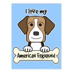 I Love My Foxhound Post Card