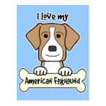 I Love My Foxhound Post Cards