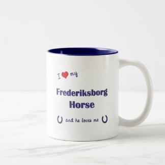 I Love My Frederiksborg Horse (Male Horse) Two-Tone Coffee Mug