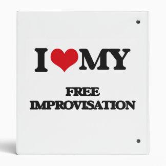 I Love My FREE IMPROVISATION Vinyl Binder