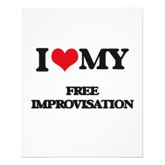 I Love My FREE IMPROVISATION Flyer
