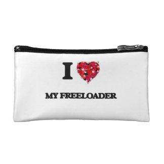 I Love My Freeloader Cosmetics Bags