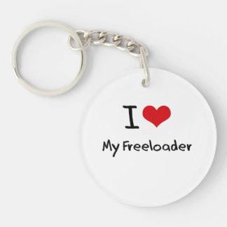 I Love My Freeloader Single-Sided Round Acrylic Keychain