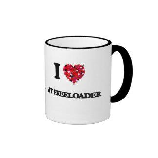 I Love My Freeloader Ringer Coffee Mug