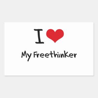 I Love My Freethinker Rectangle Stickers