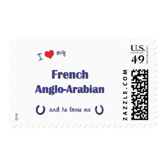 I Love My French Anglo-Arabian (Male Horse) Postage Stamp