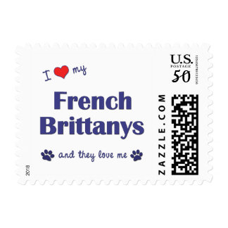 I Love My French Brittanys (Multiple Dogs) Postage