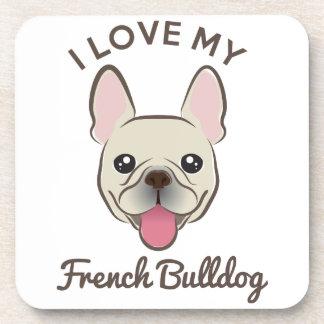 """I Love My French Bulldog"" Coaster Set"