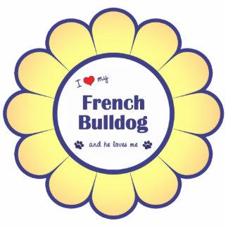I Love My French Bulldog (Male Dog) Photo Cutout