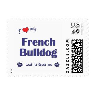 I Love My French Bulldog (Male Dog) Stamp