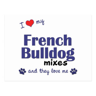 I Love My French Bulldog Mixes (Multiple Dogs) Postcard