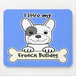 I Love My French Bulldog Mousepads