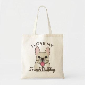 """I Love My French Bulldog"" Tote Bag"